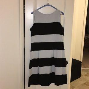 Black and Light Blue Sleeveless Dress